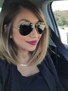 Ombré bob. Love the way my hair turned out! Product in my hair is Big Sexy Hair Powder Play. Gives it great texture and volume!