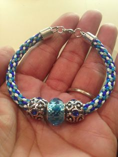 Kumihimo bracelet by me