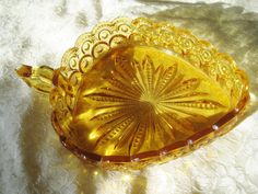 LE Smith Amber Moon Stars Candy dish Starburst with by ChinaGalore