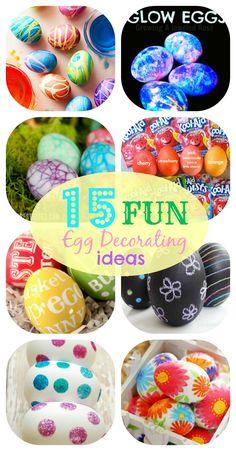 15 Fun Egg Decorating Ideas #easter