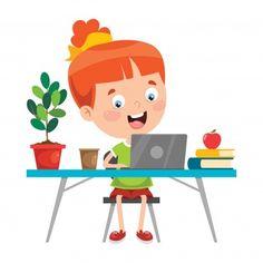 Studying at classroom Royalty Free Vector Image Corpus Christi, Free Vector Images, Vector Free, Emoticon, Cute Drawings, Adobe Illustrator, Kindergarten, Clip Art, Classroom