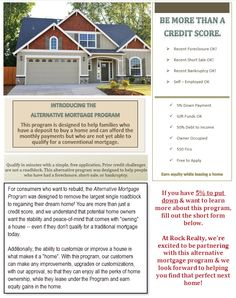 Alternative Mortgage Program – Better Than Rent-To-Own