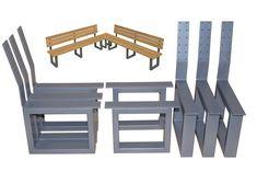 Edelstahl Tischkufen - Edelstahl-Metallbau Stelzer Welded Furniture, Bench Furniture, Steel Furniture, Industrial Furniture, Furniture Projects, Outdoor Furniture, Metal Picnic Tables, Iron Table Legs, Home Office Table