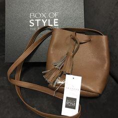 Rachel Zoe Box of Style Shaffer Bag Spring 2016 Brown leather cross body drawstring bag by Shaffer Shaffer Bags Crossbody Bags