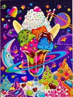 When I was in the fourth grade I started my very own Lisa Frank club at school. If you don't remember Lisa Frank stationery, it was all the rage in…View Post Art Kawaii, Lisa Frank Stickers, Cartoon Photo, Arte Pop, 90s Kids, Illustrations, Retro, Clipart, Rainbow Colors