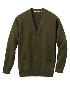uniqlo MEN LAMBSWOOL V NECK CARDIGAN