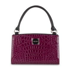 Lillian       Rich plum croc-textured faux leather is fierce, yet classy. The woman who carries Lillian for Classic Bags knows how to make an entrance and leaves a lasting impression wherever she goes. Lillian adds a splash of brilliant color to neutral outfits and creates drama when worn with your favorite black ensemble. Luscious—absolutely luscious!