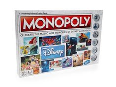 Hasbro Gaming Monopoly: Disney Animation Edition Game Celebrate the magic and memories of 80 years of Disney animationFeatures Magic Mirror cards and Ariel's Monopoly Board, Monopoly Game, Disney Movie Characters, Disney Films, Disney Games, Monopoly Disney, Bravo Hits, Beste Songs, Beloved Film