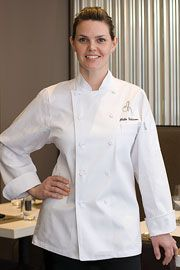 Women's St. Tropez Executive Chef Coat from Best Buy Uniforms. To see more women's chef uniforms click here http://www.bestbuyuniforms.com/chef-chef-uniforms-for-women/675-womens-st-tropez-executive-chef-coat.html