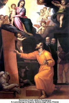 Luke the Evangelist Luke The Evangelist, Christian Art, St Luke, Saints, Spirituality, History, Angels, Painting, Historia