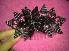 How To Make Bows, Fabric Flowers, My Hair, Swarovski, Projects To Try, Ribbon, Beads, Crochet, Christmas