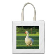 go shopping eco friendly! with this cute white goose tote! $9.95 http://www.zazzle.com/white_goose_tote_bag-149272905683863614