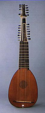 The archlute (Spanish archilaúd, Italian arciliuto, German Erzlaute, Russian Архилютня) is a European plucked string instrument developed around 1600