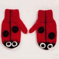 acorn kids ladybird mittens