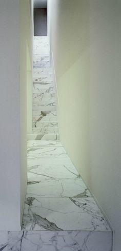 Marble staircase inside the DJ-VDV-residence by Belgian minimalist Vincent van Duysen.