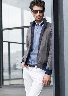 Koszulka polo to element sport Shops, Casual Wear, Spring Fashion, Spring Summer, Man Men, Blazer, Guys, Elegant, Stylish