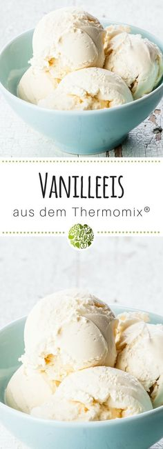 Vanilla ice cream from Vanilleeis aus dem Thermomix® Did you know that vanilla ice cream is the most popular ice cream in Germany? Today we complete our ice cream recipe collection with this wonderful vanilla ice cream from Thermomix®️️️️️. Easy Easter Desserts, Frozen Desserts, Easter Recipes, Fall Recipes, Desserts Thermomix, Healthy Dessert Recipes, Baking Recipes, Snack Recipes, Homemade Vanilla