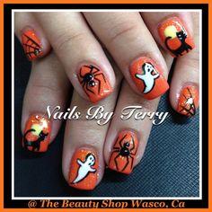 halloween nails by terry  #nail #nails #nailart