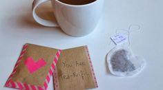 DIY - Les sachets de thé pour la Saint Valentin