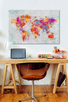 Travel the world. Map painting.