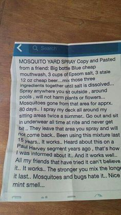 Best Mosquito Repellent !!