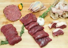 This sampling of exotic game will help your inner-carnivore go wild. Wild Game Recipes, Meat Recipes, Healthy Recipes, Ostrich Meat, Chicken Carbonara Recipe, Eating Light, New Flavour, Venison