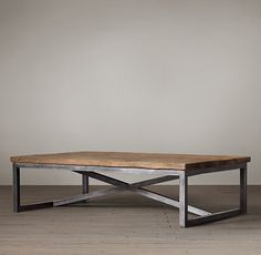 Furniture American country to do the old wrought iron coffee table LOFT style rectangular coffee table wood coffee table