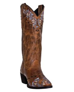 Laredo Womens Tan Crackle Goat Leather Maricopa 11 Quot Cowboy