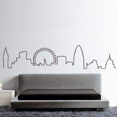 London Skyline wall sticker by HU2