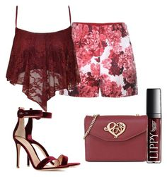"""""""Untitled #66"""" by grateful-angel ❤ liked on Polyvore featuring Moncler Gamme Rouge, Gianvito Rossi and Love Moschino"""