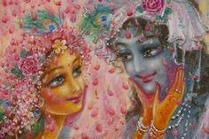 Radha Krishna Holi 3D Images