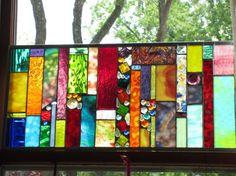 Cadeau de mariage du Registre vitrail tableau par stanfordglassshop, $275.00