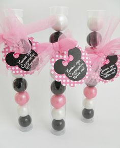 Minnie Mouse Gumball Party Favors-Set of 10 por 3SweetMemories