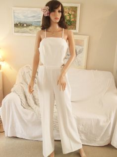306f32cf72ec Unworn white jumpsuit UK size 10 12 Wedding jumpsu… Aisle Society