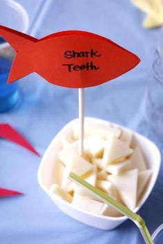 Cheese shark teeth, but with luau marker