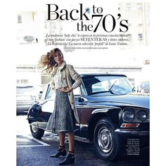 "Duchess Dior: ""Back to the 70's"" Vanessa Lorenzo for ELLE Spain August... via Polyvore"