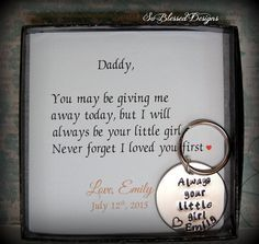 Father of the Bride Gift from Bride to Daddy by SoBlessedDesigns