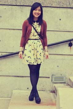 love this outfit.  need more birds and peter pan collars in my life