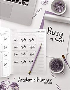 Busy as f*ck! - Academic Planner Monthly & Weekly planner (July 2019 - June for back to school students - Funny Notebook Design - x 137 pages Weekly Monthly Planner, Academic Planner, Notebook Design, Notebooks, Back To School, Students, June, Amazon, Business