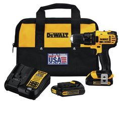 Dewalt DCD780C2R Factory-Reconditioned 20V MAX Cordless Lithium-Ion Compact Drill Driver Kit, 1/2""