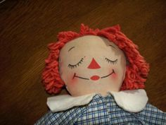 "awake/asleep Raggedy Andy 13"" inch Georgene with tag"