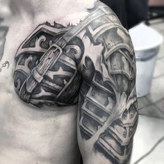 Discover the top 93 best armor tattoo designs featuring plate armor to shields, gauntlets and more. Explore ink ideas suited for the battlefields.