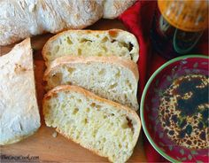 This homemade Ciabatta bread has a crispy outer crust, and a soft center with little crannies perfect for dipping into oil, butter, soups, & dips!
