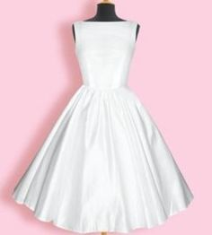 wedding dress ivory - : Queen of Holloway, Dressing Shop Vintage Outfits, 1950s Outfits, Vintage Dresses, 1950s Dresses, 1950s Style, White Wedding Dresses, Bridesmaid Dresses, 50s Style Wedding Dress, 50s Wedding