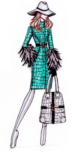 Hot Trend  Fashion Illustration by Hayden Williams!