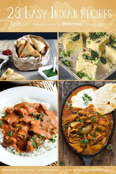 Discover what Indian food is all about with these simple recipes - 23 Easy Indian Recipes to Broaden Your Indian Food Horizons Easy Indian Recipes, Asian Recipes, Ethnic Recipes, Simple Recipes, Pakistani Food Recipes, Vegetarian Recipes, Cooking Recipes, Cooking Bacon, Desi Food