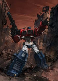 Transformers - Optimus Prime by Klaus Scherwinski