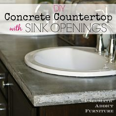 Pneumatic Addict : DIY Concrete Countertop With Sink Openings