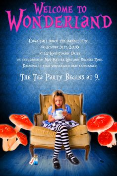 this would be great for an Alice in Wonderland birthday party invite