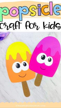 Summer Crafts For Kids, Paper Crafts For Kids, Craft Activities For Kids, Preschool Activities, Art For Kids, Kindergarten Crafts, Crafts For Preschoolers, Toddler Art, Toddler Crafts